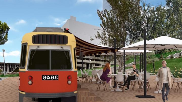 «Мы стартуем»: Волгоградка решила открыть кафе в старом вагоне скоростного трамвая