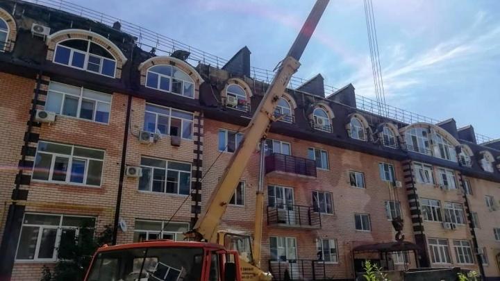 В Горячем Ключе начали ремонтировать дом, при пожаре в котором погиб сотрудник МЧС
