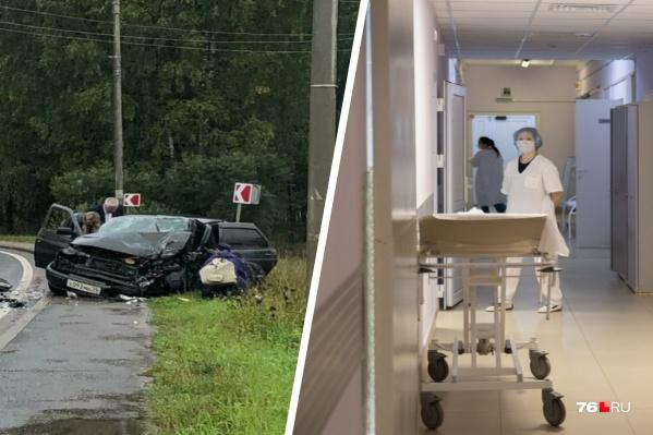 Пострадавшие в ДТП водитель и пассажир автомобиля ВАЗ сейчас находятся в больнице