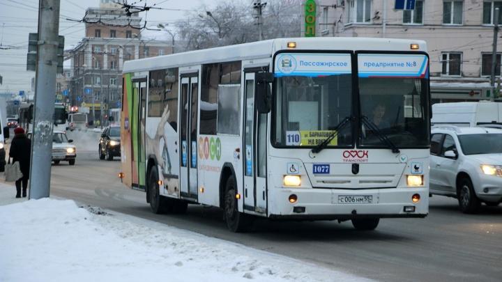 В Омске за рулем автобуса № 110 скончался водитель