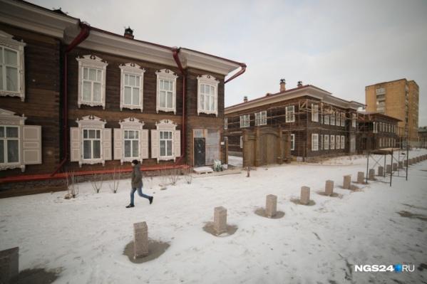 Исторический квартал в центре Красноярска демонстрирует различные архитектурные стили