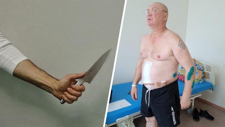 Напавший с ножом мужчина разгуливает на свободе: раненный хулиганом екатеринбуржец две недели ждет полицию