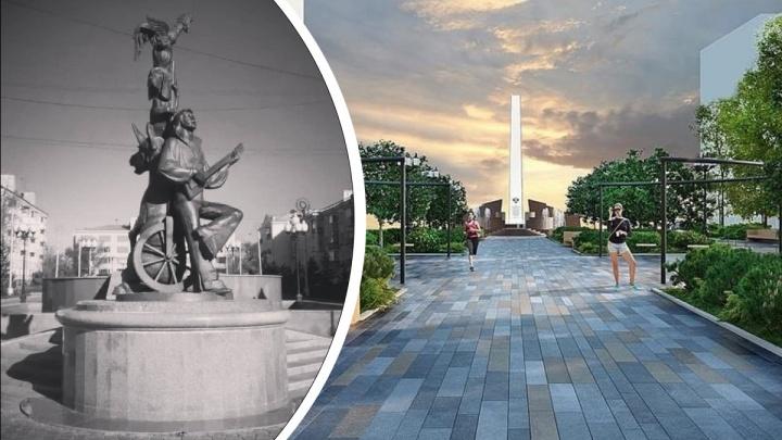 Установленный при Пимашкове памятник «Бременские музыканты» сносят ради стелы трудовой доблести