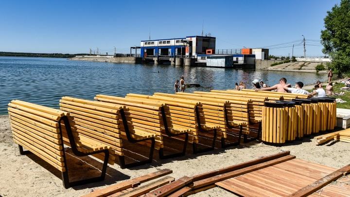 Не прошло и лета: на главном городском пляже Челябинска началось благоустройство