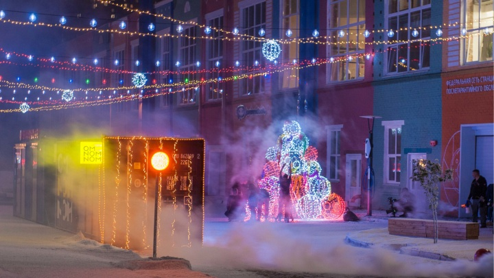 В Перми сняли сцены для фильма «Ёлки». «Морион» запорошили снегом, а губернатор снялся в промо