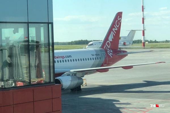 Лететь в Махачкалу челябинцы должны были на этом самолете