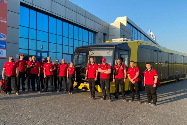 Для белорусской команды перронный автобус МАЗ выполнил персональный рейс