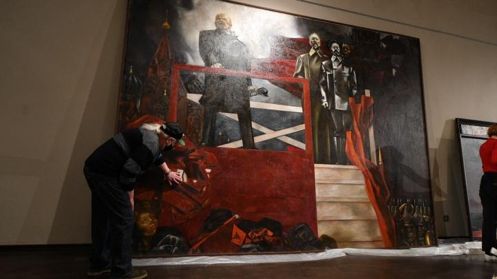 В Музее изо покажут гигантскую картину Брусиловского, на фоне которой вы почувствуете себя маленьким