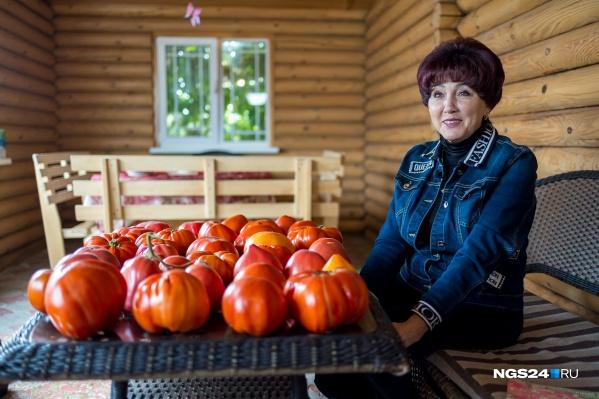Наталья Щербинина смогла вырастить самый большой помидор в стране