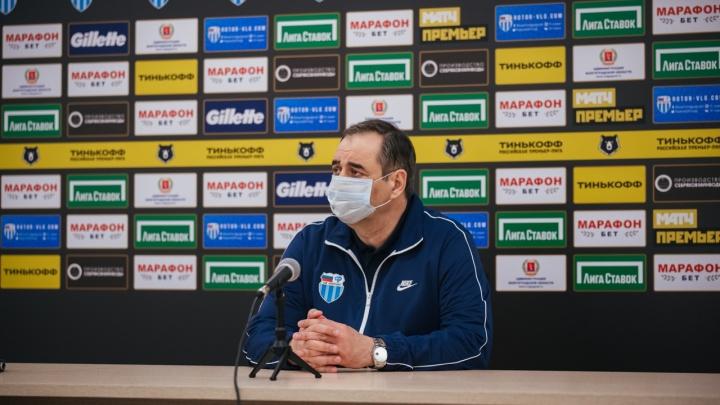 «Нам по силам остаться в РПЛ»: главный тренер «Ротора» прокомментировал поражение от ЦСКА