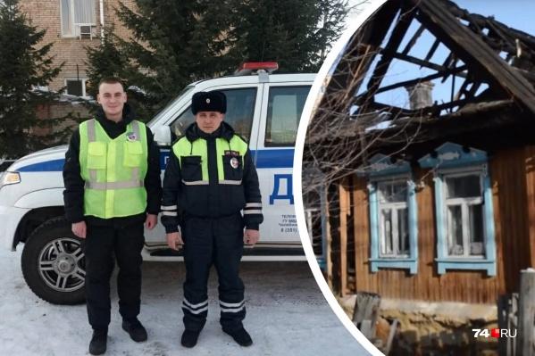 О геройстве патрульныхЕгора Беспалова (справа) и Вадима Лашманова коллеги рассказали больше недели спустя