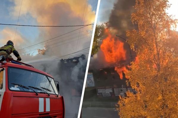 Пожар локализовали в 17:25