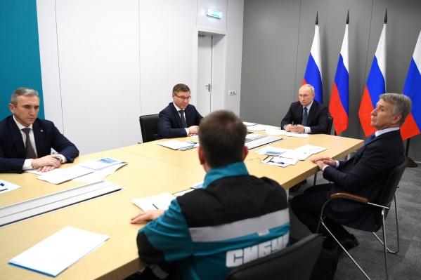 Леонид Михельсон (он справа) приезжал в прошлом году вместе с президентом Владимиром Путиным в Тобольск