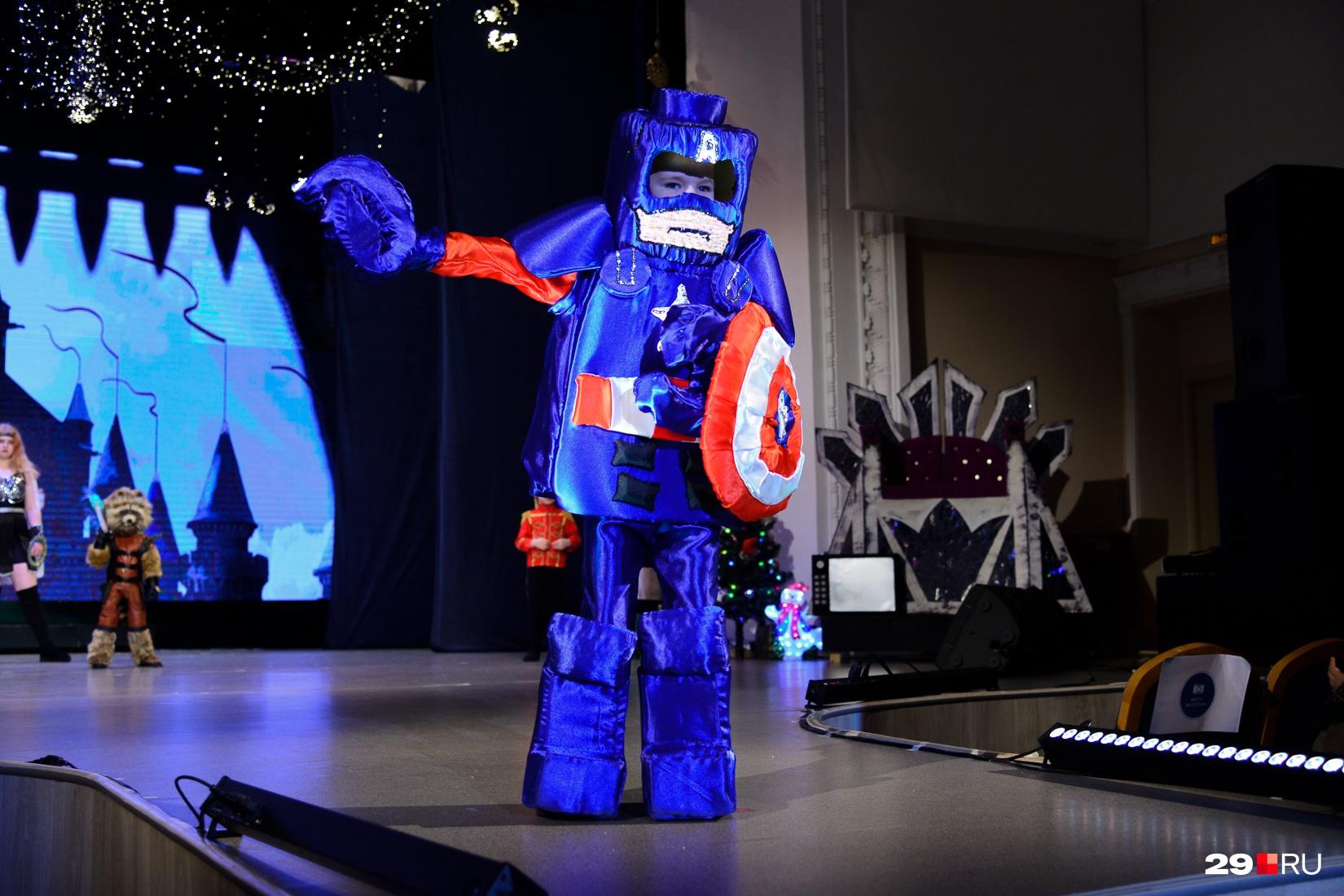 Капитан Америка из мира Lego