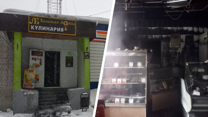 На Ключ-Камышенском плато во время пожара рядом с супермаркетом погиб человек
