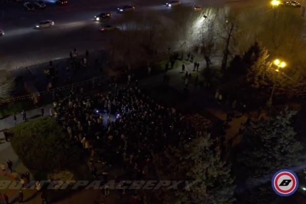 Акция протеста стартовала с площади Павших Борцов