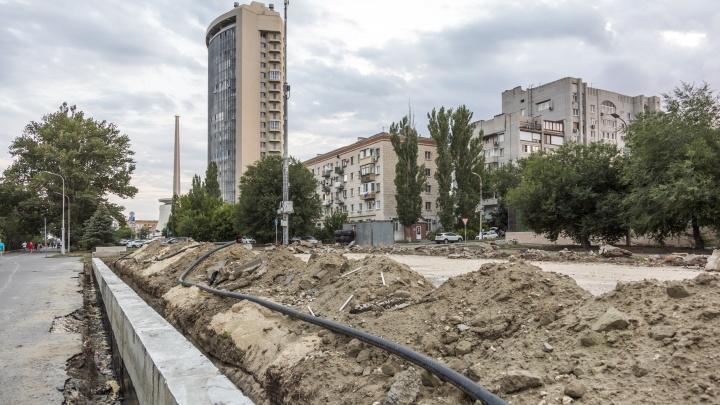 В Волгограде на месте стихийной парковки строят центр для уличного баскетбола