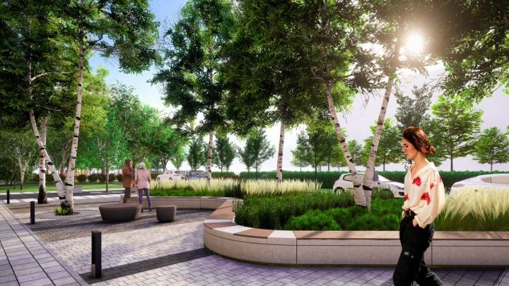 Архитекторы показали, каким будет бульвар на Комсомольском проспекте в Челябинске