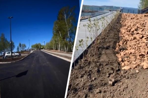Рабочие наконец починили дорогу к смотровой