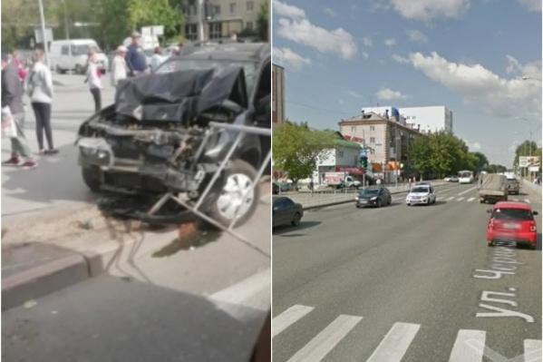 Машина разбита, водитель пьян