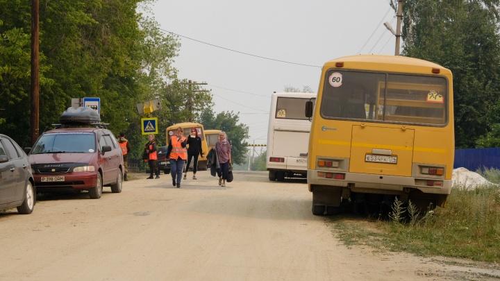 В Челябинской области эвакуированные из горящего поселка люди получили ожоги