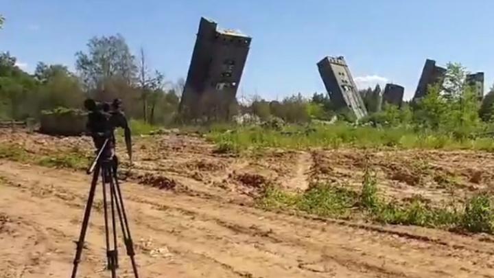 В Рыбинске взорвали элеватор. Видео