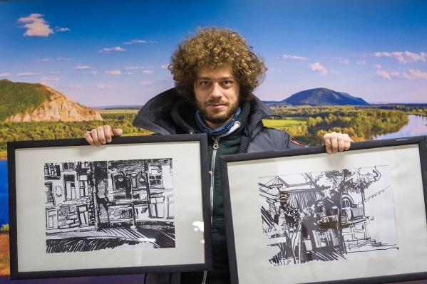 Илья приобрел две картины юной уфимской художницы еще в 2015 году