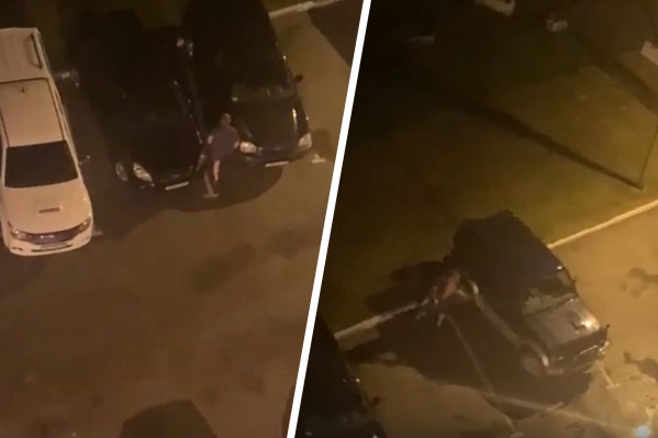 Мужчина разбил две припаркованные машины