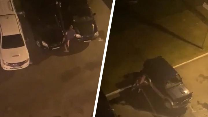 Бил локтями и трубой: в Академгородке пьяный прохожий изуродовал две машины