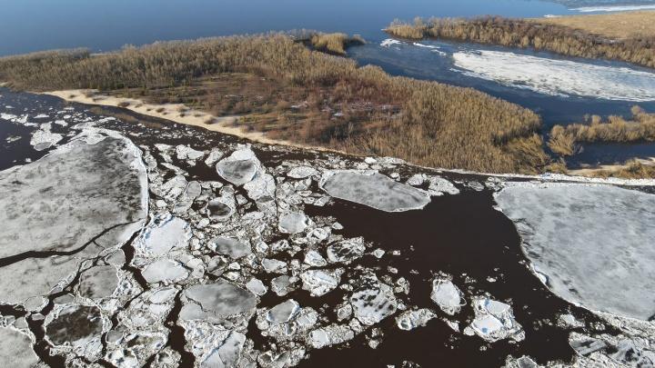 Смотрим на ледоход: как по Северной Двине отступает зима