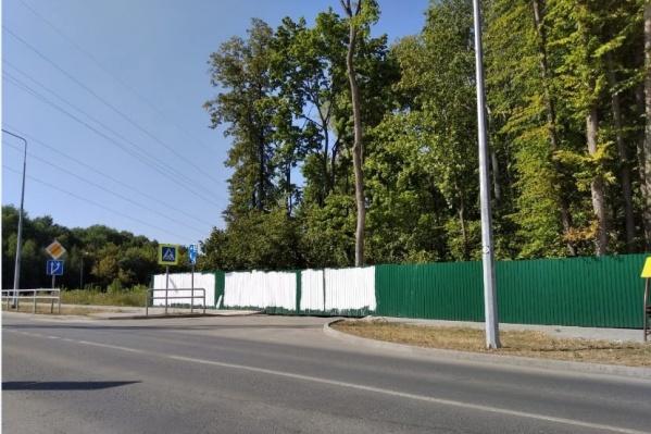 Огромные белые пятна на месте надписи появились утром 20 августа
