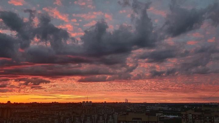 Игра красок в небесах: восхищаемся фото тюменского заката, который никогда не надоест
