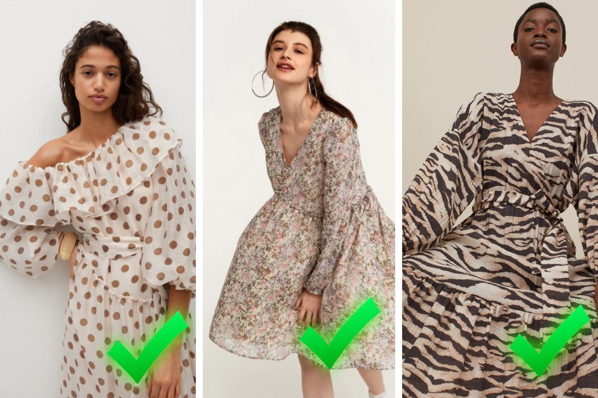 Сравните — на фото представлены актуальные модели и оттенки платьев. Подходящий вариант для прогулок в городе вечером