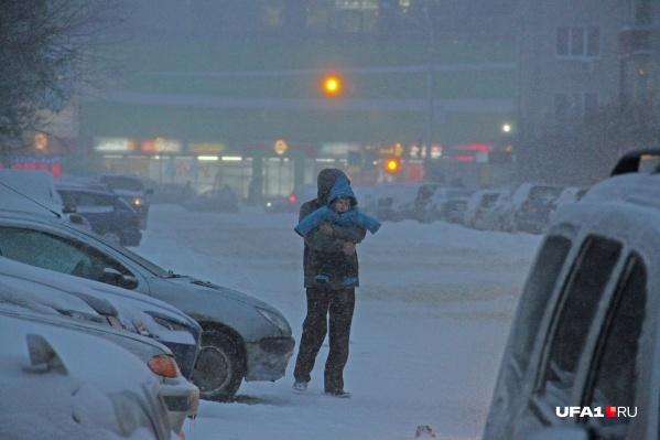 Этой зимой метели в Башкирии случаются часто