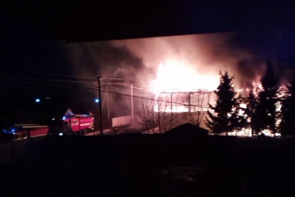 В дома был проведен газ, поэтому на месте происшествия работают сотрудники горгаза