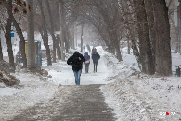 В такую погоду высок риск обморожения