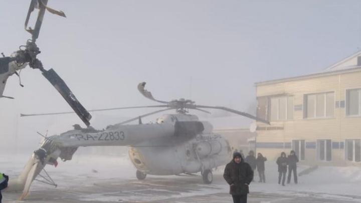 После столкновения со зданием аэропорта в Богучанах у вертолета отвалился хвост