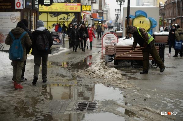 Столица Урала утонула в грязи