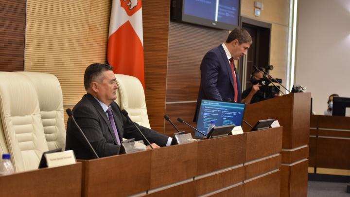 Губернатор Прикамья Дмитрий Махонин представил краевым парламентариям отчет за прошлый год