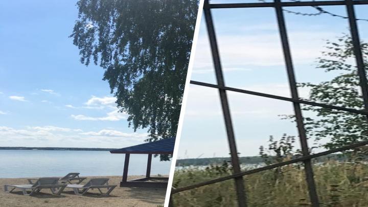 «Жара такая — все хотят купаться»: южноуральцев возмутили заборы с колючей проволокой вокруг озера