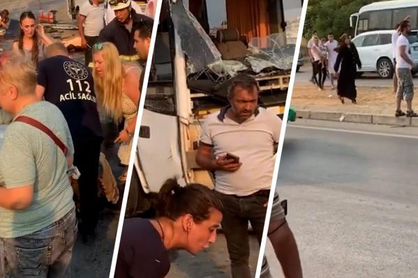 Туристы ехали в аэропорт, завершив свой отдых в Турции