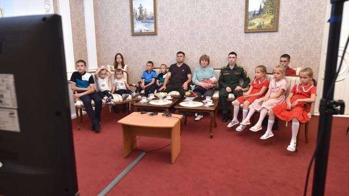 Многодетная семья из Омской области вышла на связь с президентом Путиным