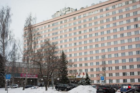 Гостиница «Двина», в которой и произошел несчастный случай