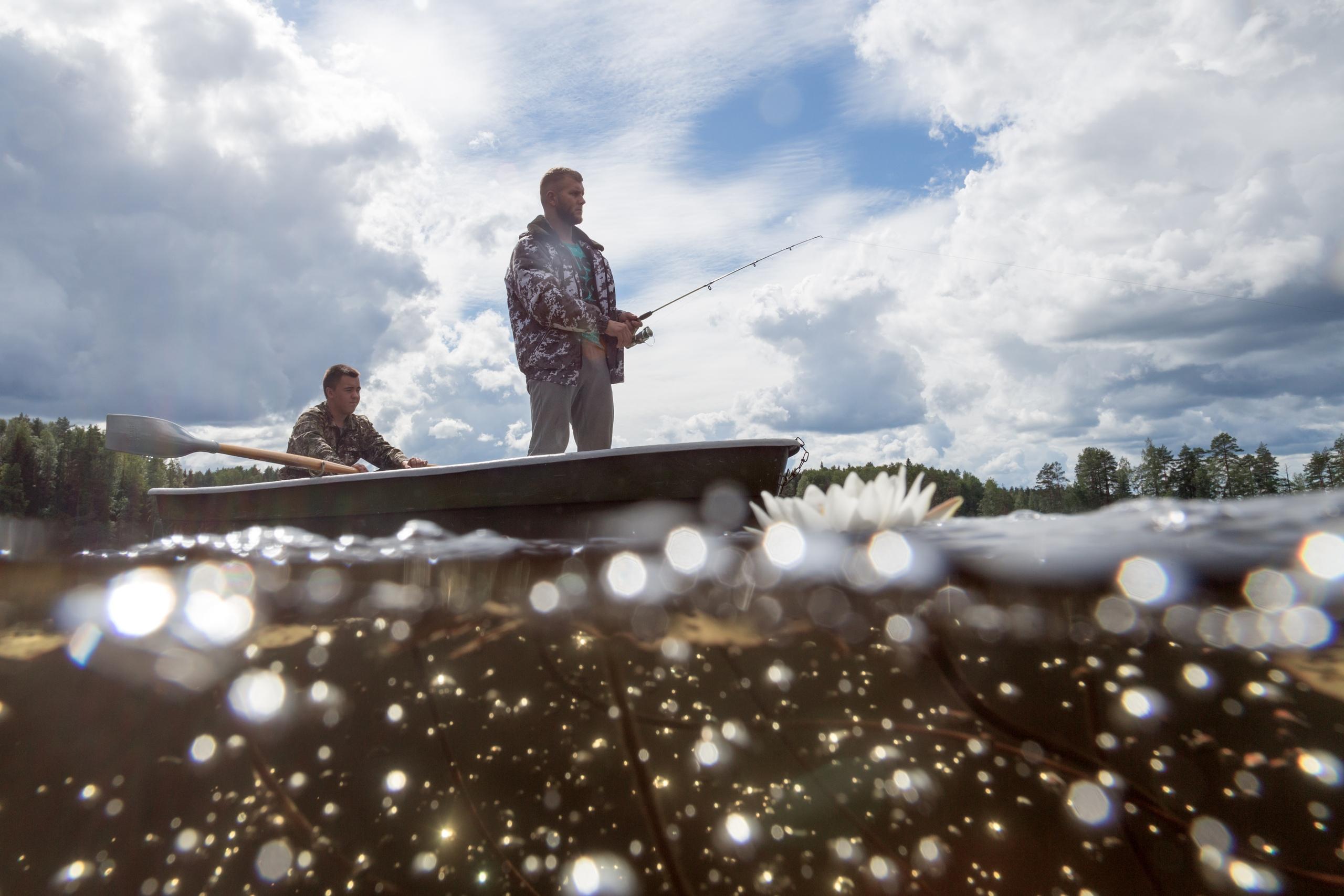 Ловля щуки в озере Щучьем, Кенозерский национальный парк