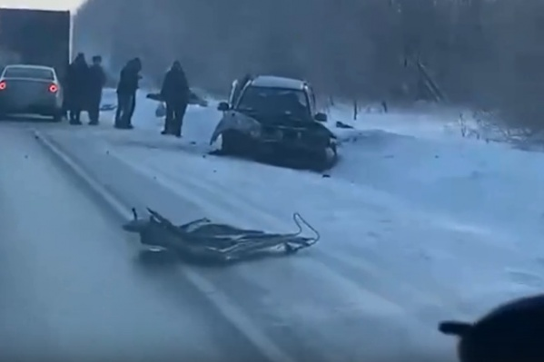 Иномарки столкнулись на трассе в Мошковском районе
