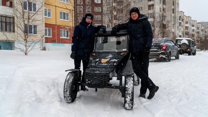 Искали детали на свалке: школьники из Северодвинска собрали автомобиль и уложились в 30тысяч рублей