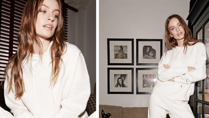 Омская модель Алёна Елисеева снялась для крупного российского бренда одежды