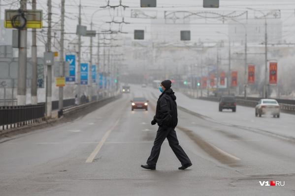 Туман в Волгограде стал уже привычным для января
