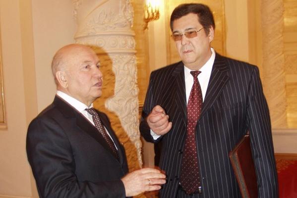 Юрий Лужков и Аман Тулеев в Кремле
