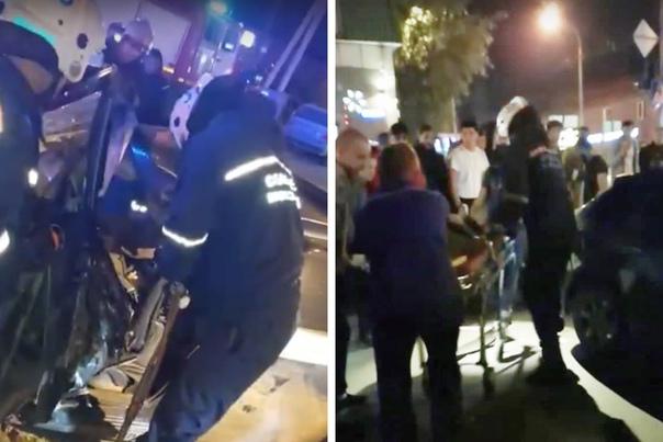 В Новосибирске водителя Subaru зажало в салоне после столкновения с грузовиком MAN